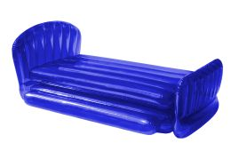 inflatable bed blue
