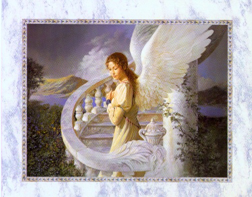 Radiant Angel art print by Edward Tadiello