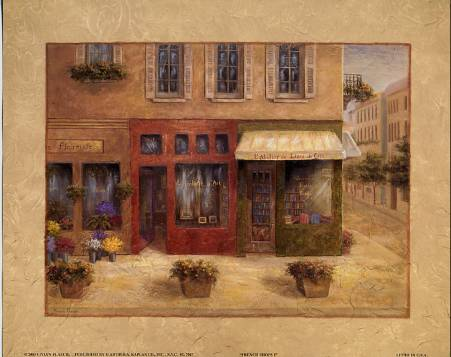 French Shops I art print by Vivian Flasch