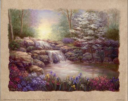 Hidden Waterfall I art print by Vivian Flasch