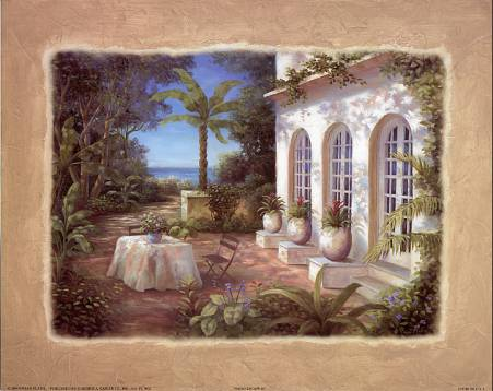Patio Escape II art print by Vivian Flasch