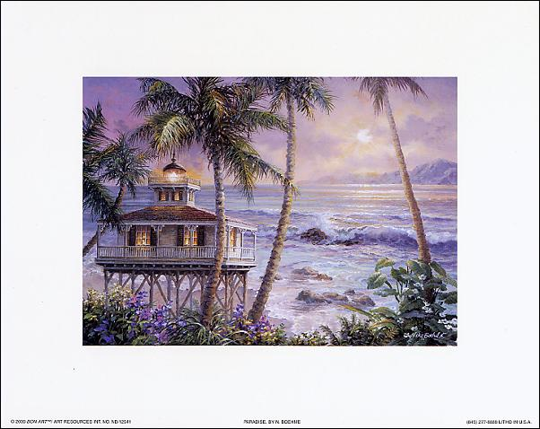 Paradise art print by Nicky Boehme