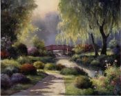 Path to Willow Park art print by T. C. Chiu
