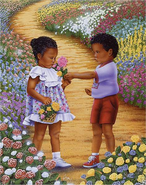 Precious Moments art print by T. Richard