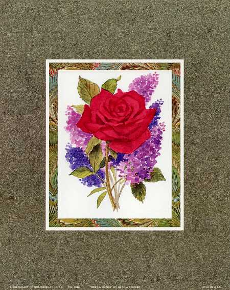 Rose and Lilacs art print by Gloria Eriksen