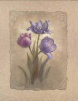 Tulip Scroll art print by Vivian Flasch