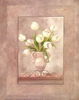 Tulips in a Vase art print by Vivian Flasch